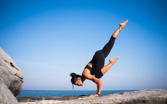 woman balancing pic