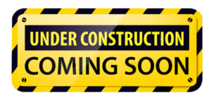 under construction - coming soon sign