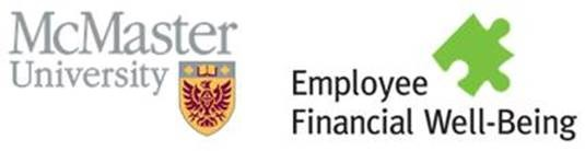 McMaster Logo and Employee Financial Well-Being image
