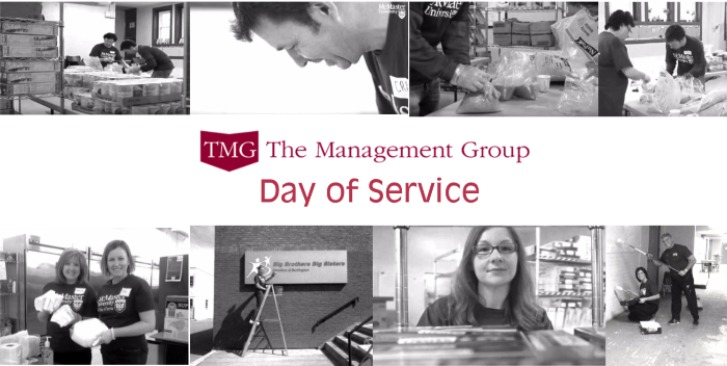 collage of pictures for TMG Day of Service