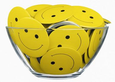 bowl of happy faces