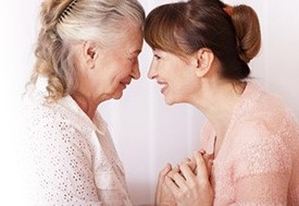Picture of Caregiver and Elderly Woman