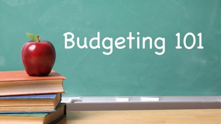 Budgeting 101 Blackboard with Apple