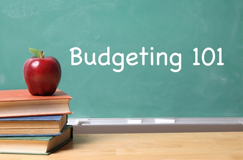 Budgeting 101 Blackboard with Apple