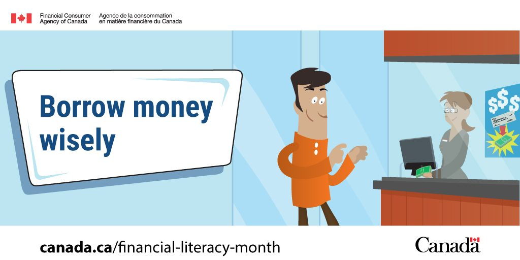 Financial Literacy Month image - borrow money wisely