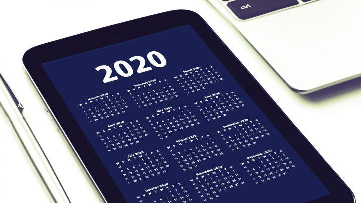tablet calendar for 2020