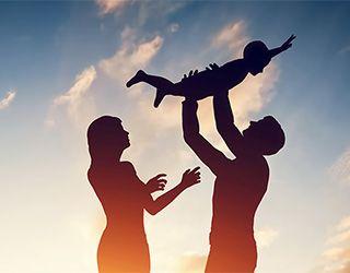parents silhouette