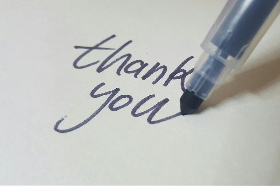 thank you hand written