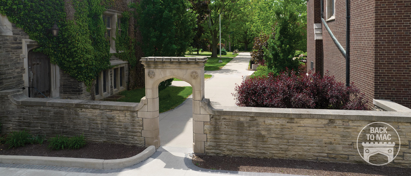archway on McMaster campus