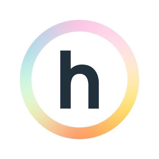 happify logo letter h