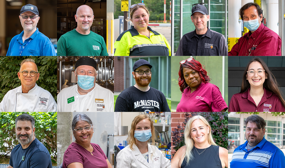 faces of employees in facilities services