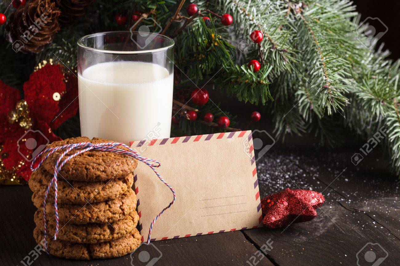 cookies milk and letter
