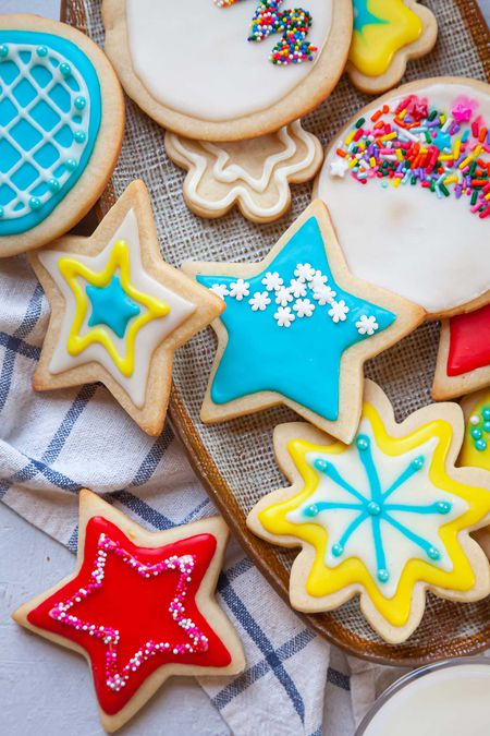 various shaped sugar cookies